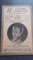 Rivista Il Guida Del Concerto E Delle Teatri Lirica 1930 N°22 Kerttu Vasca