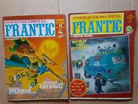 2 FRANTIC  MARVEL comic humor magazines- Feb #13 and July #17  1981 British mags
