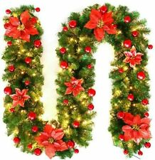2.7M Christmas Garland LED Colorful Fireplaces Stairs Decorated Garlands Decor
