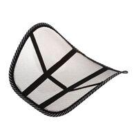 Mesh Lumbar Back Brace Support Chair Cushion Seat Waist Pillow Posture Corr R5B6