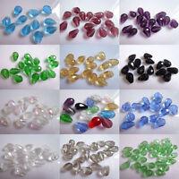 Wholesale!  30-120 pcs 8 * 12 mm teardrop crystal beads