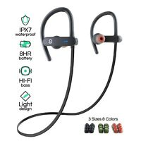 Bluetooth Headphones Best Wireless For Sports Running Gym Workout Waterproof