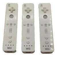 Lot of 3 Genuine White Nintendo Wii & Wii U Remote Controllers RVL-003 OEM
