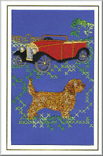Basset Fauve de Bretagne Birthday Card or Notecard Embroidered by Dogmania