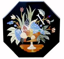 "24"" Marble Center Table Handicraft Inlay Random Flowers inlaid Home Room Decor"