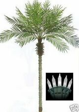 8' Artificial Phoenix Palm Tree 8ft Plant Date Sago Pool Deck & Christmas Lights