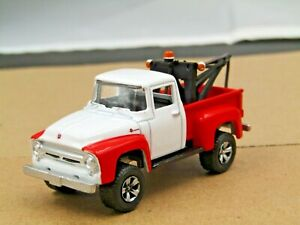 dcp/greenlight Custom lifted white/red 1956 Ford F-100 4x4 tow truck 11/64