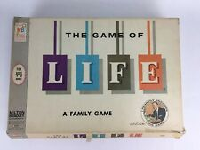 VINTAGE THE GAME OF LIFE BOARD GAME 1960 MILTON BRADLEY A FAMILY GAME COMPLETE