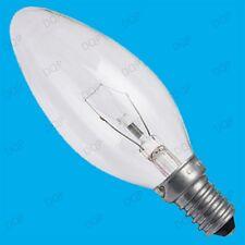 6x 60W CLEAR CANDLE INCANDESCENT FILAMENT LIGHT BULBS SMALL EDISON SCREW SES E14
