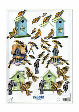 3d Motif Bow stages Arc Greeting Card Bird Birds Bird House (096)