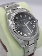 Rolex Datejust 116200 New Style Perpetual Oyster SS Black Dial Watch  Brand New
