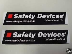 Safety Devices Roll Cage Stickers x 2 - GENUINE ARTICLE