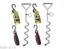 Storm Tie Down Strap Kit anchor pegs Caravan Awning Pop up Gazebo Marquee etc