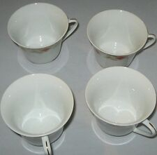 4 Made in China floral footed Cups  with gold trim