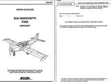 SIAI Marchetti Aermacchi F260 SF.260 Parts Service Manual rare historic archive