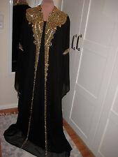 DUBAI Style Kaftan Chiffon mit schal Gr. XXXL 44 Abaya, Festkleid Party Hochzeit