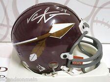 Jeremiah Trotter Washington Redskins Signed Mini Helmet LOM COA (HM102)