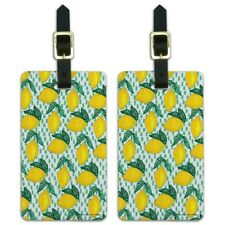 Lots of Lemons Pattern Luggage ID Tags Suitcase Carry-On Cards - Set of 2
