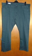"M&S Cotton Rich Slim Fit Stretch Travel Jeans W44"" L29"" Green BNWT"