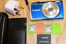 Canon PowerShot A2600 16.0MP Digital Camera - COMES WITH 4 x 4GB SD Cards blue
