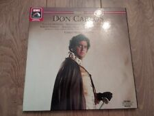 VERDI * DON CARLOS * 3 x vinyl LP EX/EX Domingo CABALLE Giulini HMV 29 0712 3
