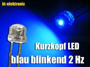 Blinkintervall Auswahl 10mm Blinklicht Batteriebetrieben Blau LED