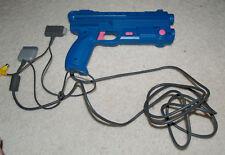 Nuby Sniper Light Gun - Playstation 1 Vibration Action Guncon - blue / pink