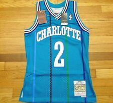 MITCHELL & NESS NBA HWC CHARLOTTE HORNETS LARRY JOHNSON SWINGMAN JERSEY SIZE S