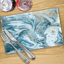 Glass Placemats Digital Printed x 4 in Various - Made By Premier Range