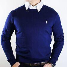 NWT Polo Ralph Lauren Navy Cashmere & Cotton Sweater Elegant Luxurious Size M