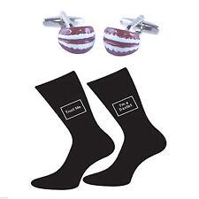 False Teeth Cufflinks & Trust me I'm a Dentist Socks Gift Set - AJ114-X6S041