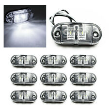 10x White Marker Side Led Trailer Truck Lorry Recovery Position Lights Lamps 12v