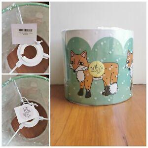 Fox Pattern Nursery Lamp Shade~ 20cm BNWT Rrp £35 ~ Nellys Treasures ~woodland
