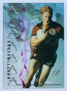 1996 NRL DYNAMIC MASTER CEL SIGNATURE GOLD NO.1 BRETT DALLAS REDEMPTION CARD
