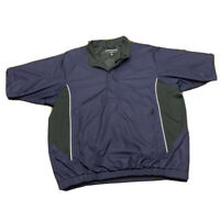 Mens XL Footjoy Dryjoys Short Sleeve Golf Rain Jacket Blue Black