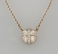 Garrard 18ct White Gold Diamond Pendant Necklace