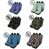 Fashion Car Seat Cover Auto Accessory Interior Combo Set 7/9 Pack Full Set