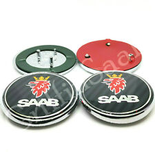 2 x Saab 93 9-3 Convertible & Estate Carbon Fibre Badge Emblem Set 2004-2012