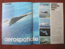 9/1971 PUB AEROSPATIALE CONCORDE AIRBUS EXOCET PUMA AIRBUS SATELLITE ORIGINAL AD