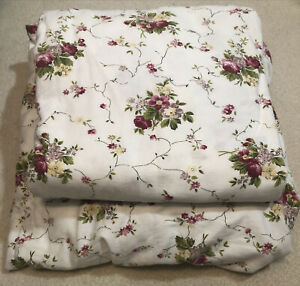 Vintage KING Floral Flat & Fitted Sheet Set, 2-Pc 100% Cotton Flannel Portugal