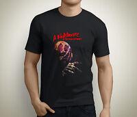 New Freddy Krueger A Nightmare On Elm Street Men's Black T-Shirt Size S to 5XL