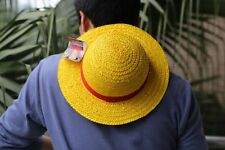 Luffy Straw Hat Yellow Ribbon Cosplay Adult Cap Costume Accessory Cute Hat