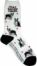 I Love My Boston Terrier (631109) Women Socks Cotton New Gift Fun Unique Fashion