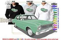 68-69 XT FALCON SEDAN HOODIE ILLUSTRATED CLASSIC RETRO MUSCLE SPORTS CAR