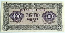 100 Francs Frank 1946 Armée Belge Belgisch Leger Belgium Zeldzaam !!  #F5#