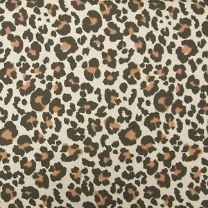 BROWN LEOPARD FAT QUATERS FABRIC REMNANT OFF CUT 133cms x 49cms  POLY COTTON