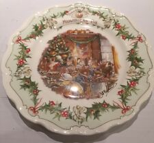 "ROYAL DOULTON BRAMBLY HEDGE 8"" WALL PLATE MIDWINTERS EVE 1ST QUALITY BEAUTIFUL"