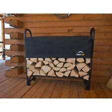 Firewood Rack with Cover Fire Log Storage Outdoor Heavy Steel Holder 4 ft *New*
