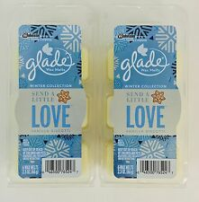 2 Sets Glade Send A Little Love Scented Wax Melts-12 Total, Winter Collection