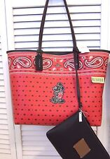 Coach Disney Mickey Mouse Bandana Prairie Reversible City Tote Handbag F59376